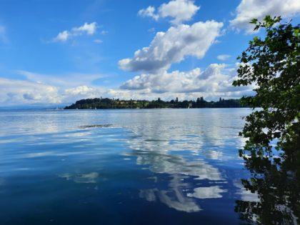 Mainau, Blick über den Bodensee/Foto von ulbarb